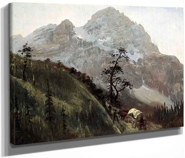 Western Trail, The Rockies By Albert Bierstadt By Albert Bierstadt