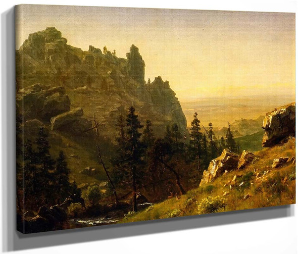 Wind River Country By Albert Bierstadt By Albert Bierstadt