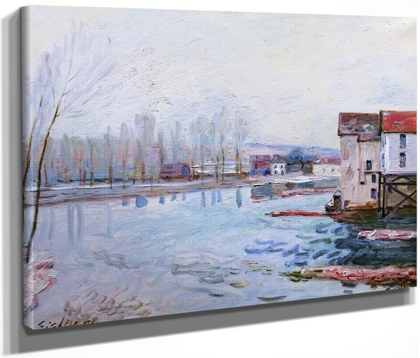 Winter In Moret By Alfred Sisley