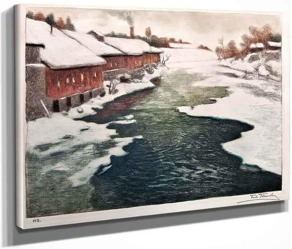 Winter In Norway By Fritz Thaulow