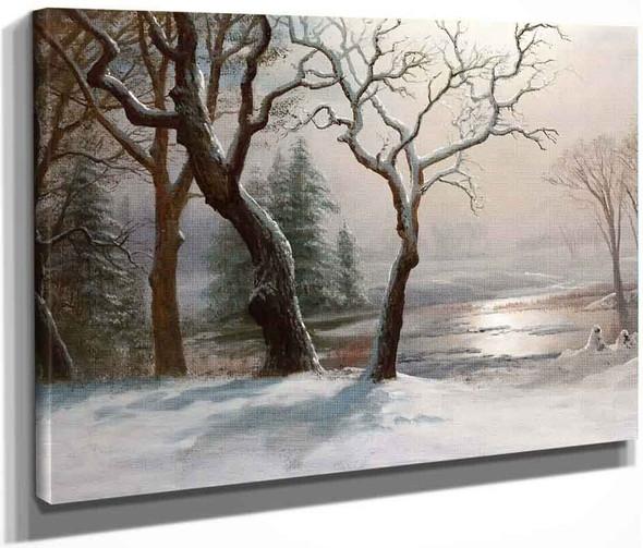 Winter In Yosemite By Albert Bierstadt By Albert Bierstadt