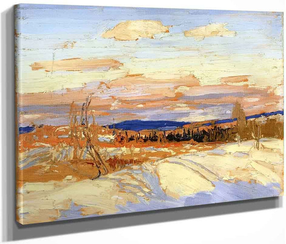 Winter Sketch For In Algonquin Park By Tom Thomson
