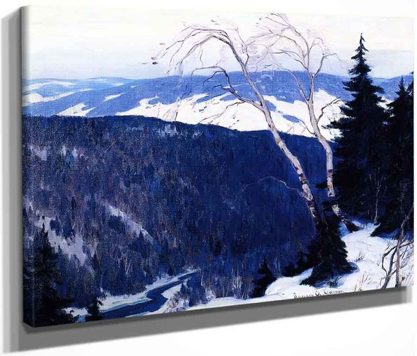 Winter Solitude By Clarence Gagnon  By Clarence Gagnon