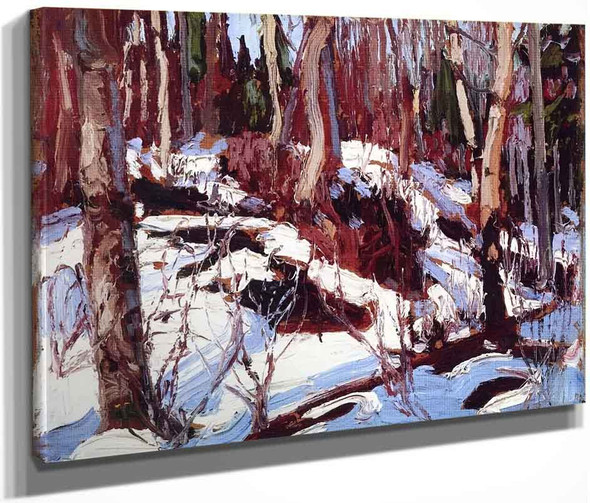 Winter Thaw In The Woods By Tom Thomson