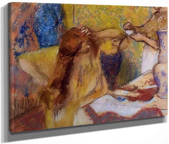Woman At Her Toilette2 By Edgar Degas By Edgar Degas