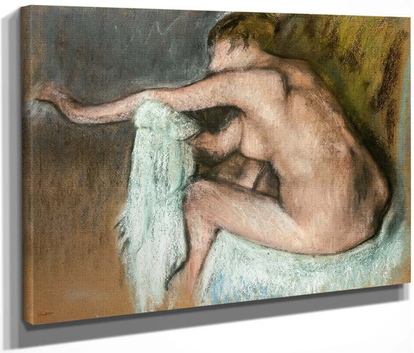 Woman Drying Her Arms By Edgar Degas By Edgar Degas