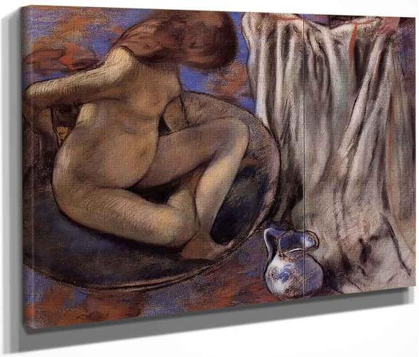 Woman In The Tub By Edgar Degas By Edgar Degas