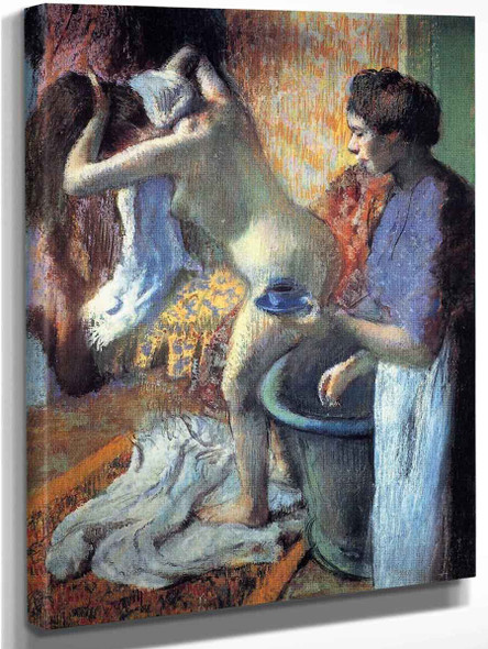 Breakfast After The Bath1 By Edgar Degas