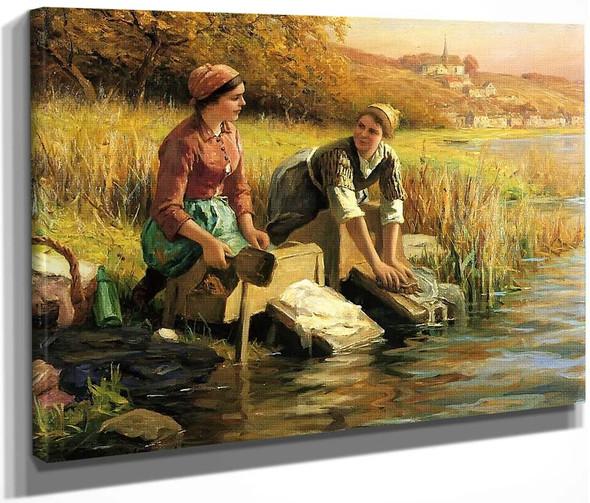 Women Washing Clothes By A Stream By Daniel Ridgway Knight By Daniel Ridgway Knight