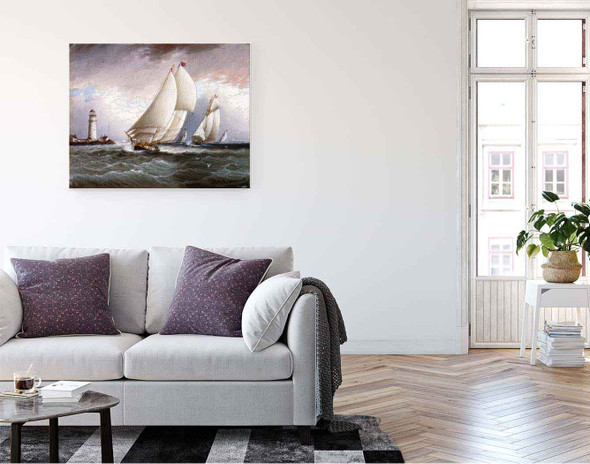 Yacht Race In New York Harbor1 By James E. Buttersworth By James E. Buttersworth