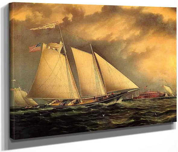 Yachting Off Castle Garden By James E. Buttersworth By James E. Buttersworth