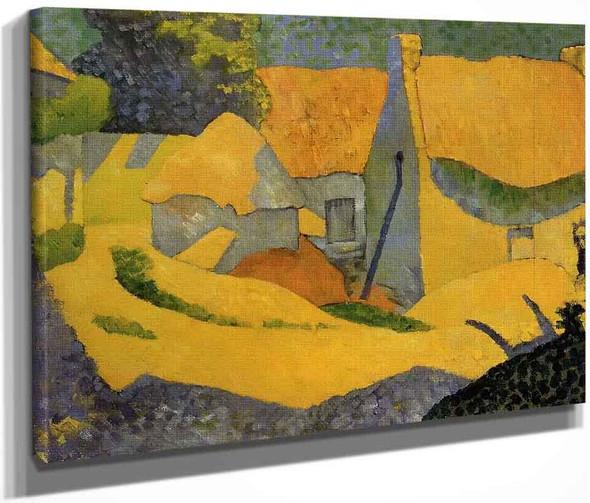 Yellow Farm At Pouldu By Paul Serusier