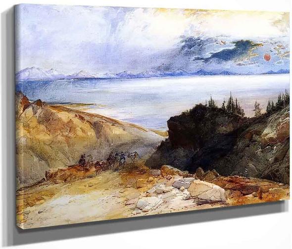 Yellowstone Lake1 By Thomas Moran By Thomas Moran