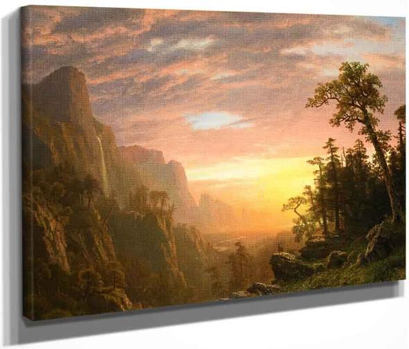 Yosemite Valley By Albert Bierstadt By Albert Bierstadt