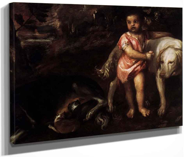 Youth With Dogs By Titian