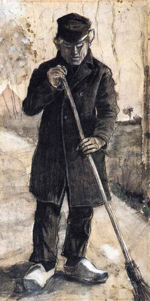 A Man With A Broom By Vincent Van Gogh