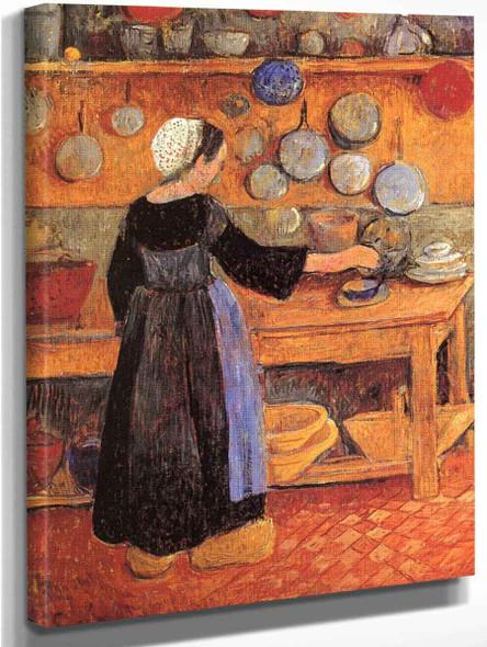 Breton Woman In The Kitchen By Paul Serusier
