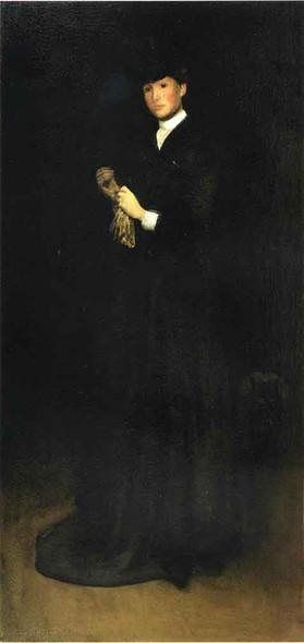 Arrangement In Black, No.  Portrait Of Mrs. Cassatt By James Abbott Mcneill Whistler American