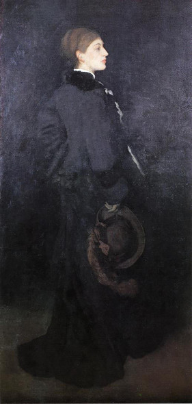 Arrangement In Brown And Black Portrait Of Miss Rosa Corder By James Abbott Mcneill Whistler American