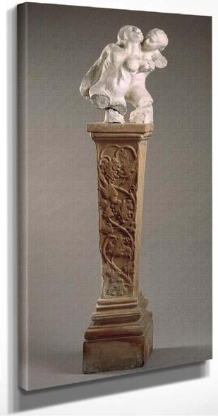 Assemblage Femme Poisson Et Torse D'iris Sur Gaine A` Rinceau (Fish Woman And Torso Of Iris) By Auguste Rodin(French, )