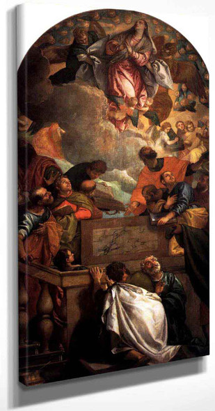 Assumption Of The Virgin By Paolo Veronese
