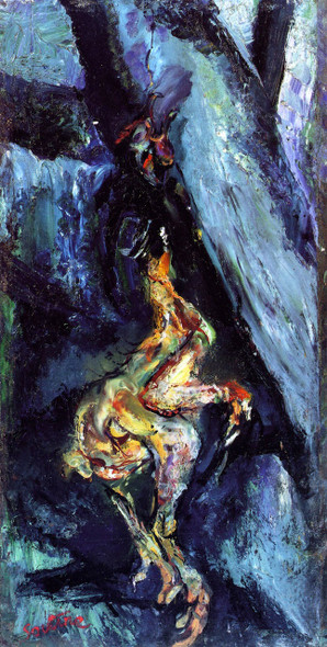 Chicken On A Blue Background By Chaim Soutine