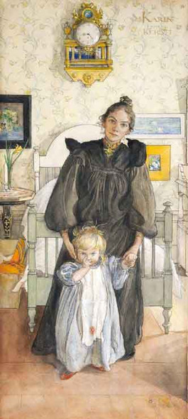 Karin And Kersti By Carl Larsson