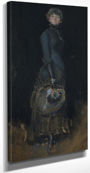 Lady In Gray By James Abbott Mcneill Whistler American