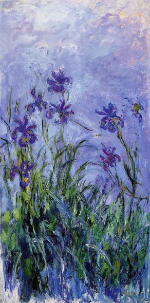 Lilac Irises By Claude Oscar Monet