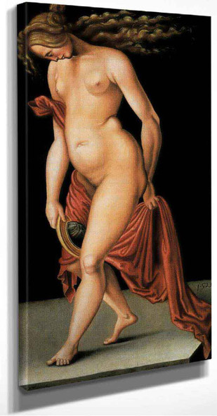 Nude Woman Holding A Mirror By Hans Baldung Grien