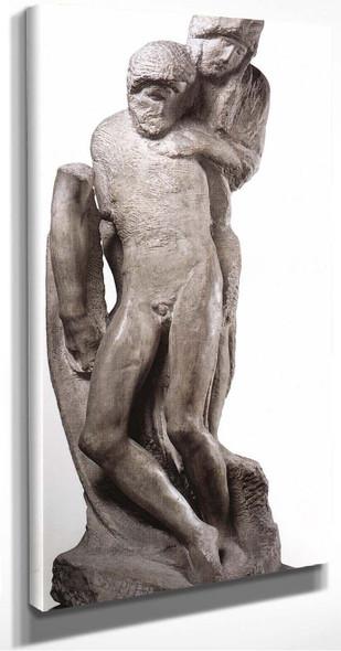 Pieta~ Rondanini, (Unfinished) By Michelangelo Buonarroti(Italian, ) By Michelangelo Buonarroti(Italian, )