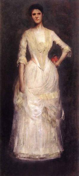 Portrait Of Ella Emmet By Thomas Wilmer Dewing By Thomas Wilmer Dewing
