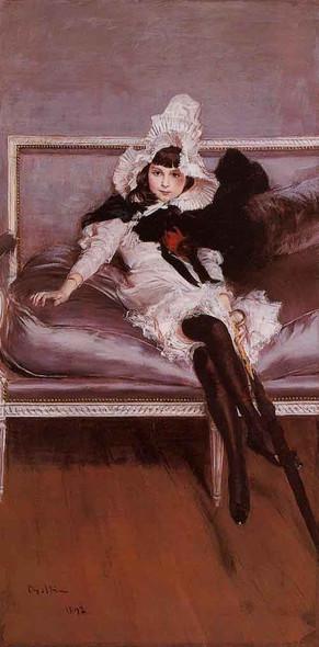 Portrait Of Giovinetta Errazuriz By Giovanni Boldini By Giovanni Boldini