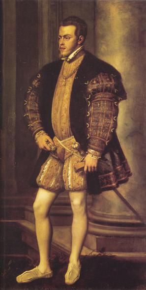 Portrait Of Philip Ii By Titian