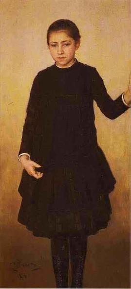 Portrait Of Vera Repina, The Artist's Daughter. By Ilia Efimovich Repin