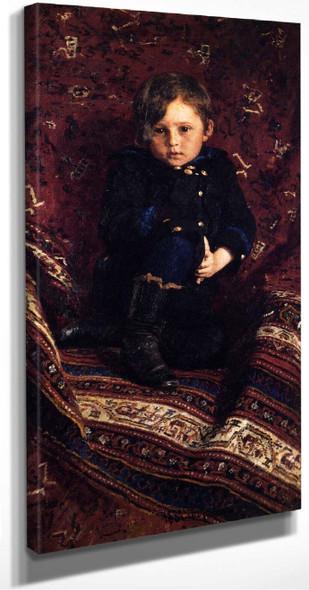 Portrait Of Yuria Repina, The Artist's Son. By Ilia Efimovich Repin