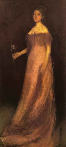 Rose And Green The Iris Portrait Of Miss Kinsella By James Abbott Mcneill Whistler American