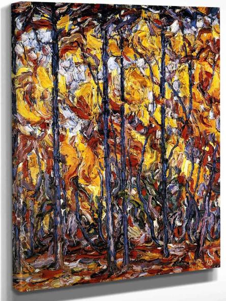 Buchen Im Herbst By Christian Rohlfs