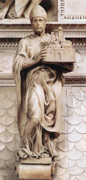St Petronius By Michelangelo Buonarroti By Michelangelo Buonarroti