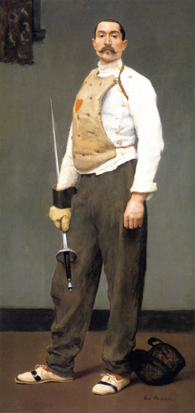 The Fencing Master By Gari Melchers