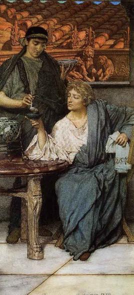 The Roman Wine Tasters By Sir Lawrence Alma Tadema