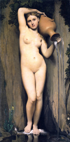 The Source By Jean Auguste Dominique Ingres  By Jean Auguste Dominique Ingres