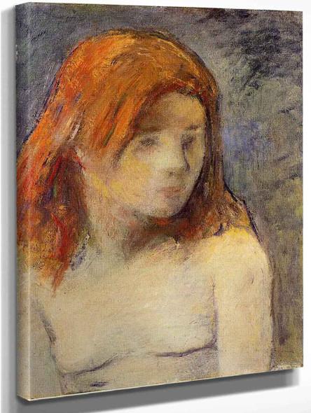 Bust Of A Nude Girl By Paul Gauguin