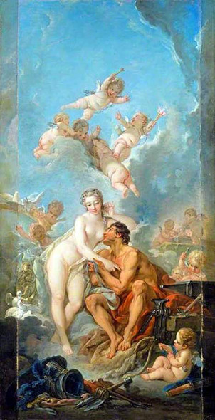 Venus And Vulcan By Francois Boucher