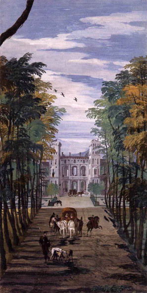 Villa Barbaro Landscape With A Carriage By Paolo Veronese