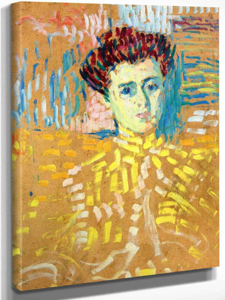 Bust Of A Young Woman By Alexei Jawlensky By Alexei Jawlensky