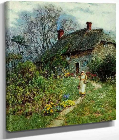 A Cottage At Bothenhampton,Dorset By Helen Allingham By Helen Allingham