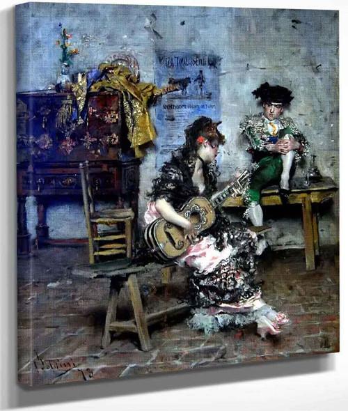A Guitar Player By Giovanni Boldini By Giovanni Boldini