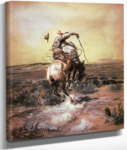 A Slick Rider By Charles Marion Russell