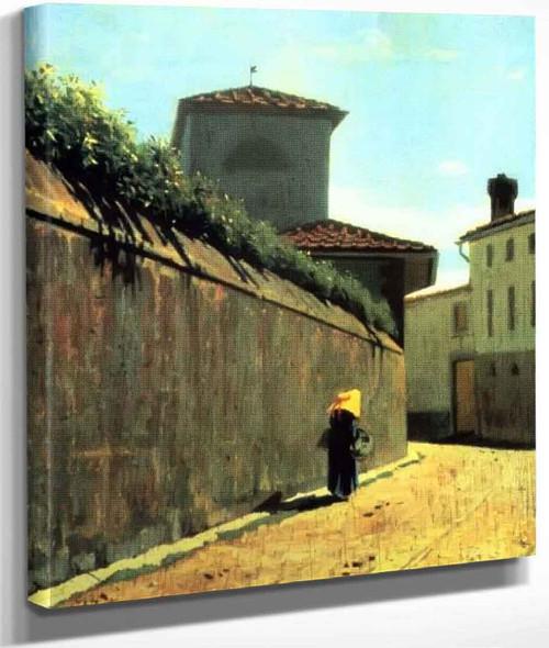 A Street In Sunlight By Giuseppe Abbati By Giuseppe Abbati